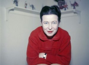 Simone de Beauvoir in 1957
